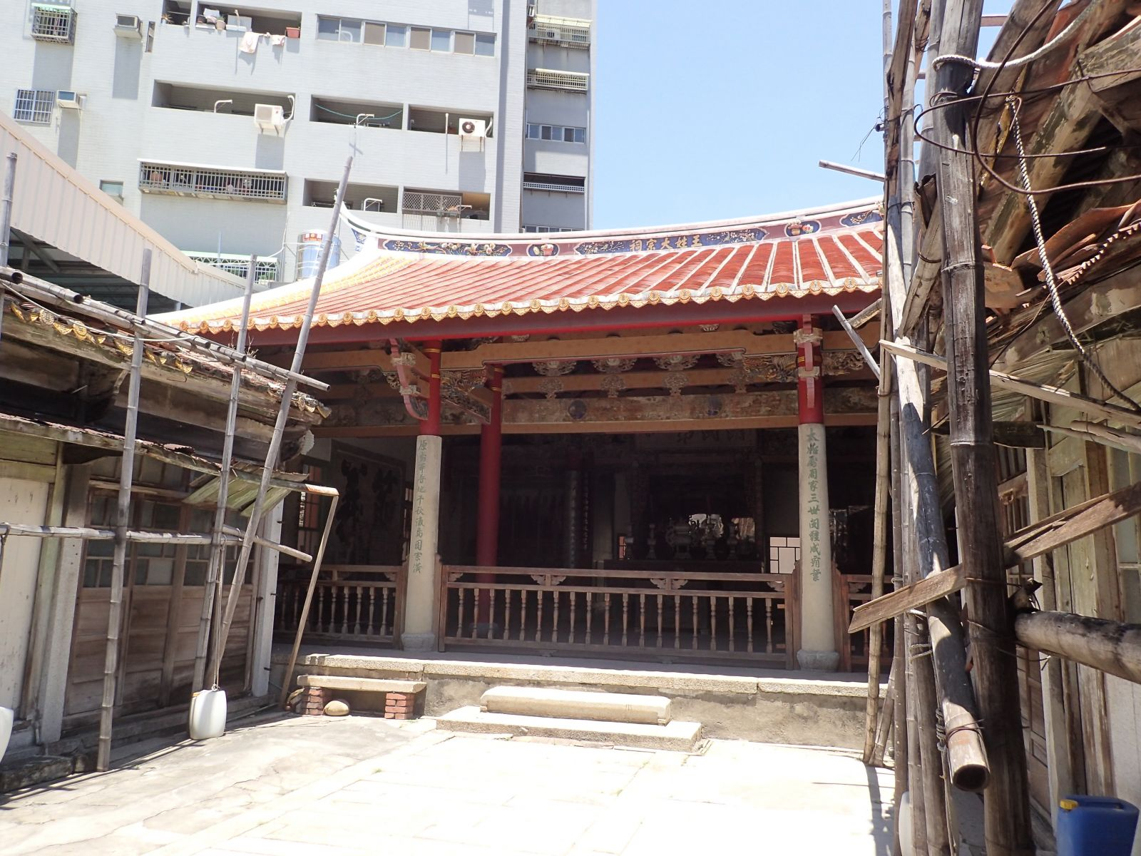 Wang family temple historic building restoration