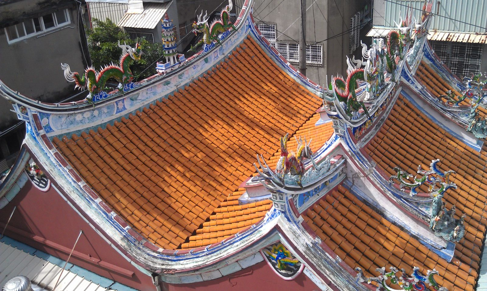 Restoration of sweshen temple in tainan